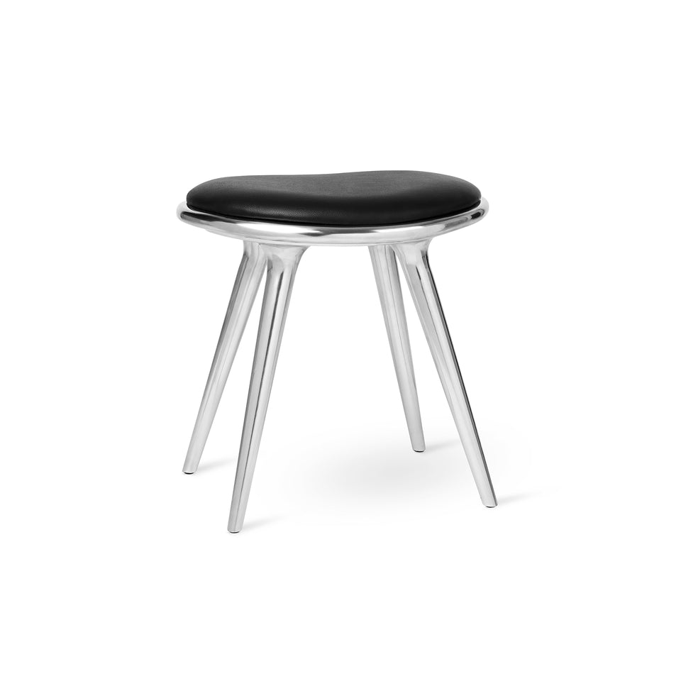 Aluminum Low Stool by Space Copenhagen for Mater