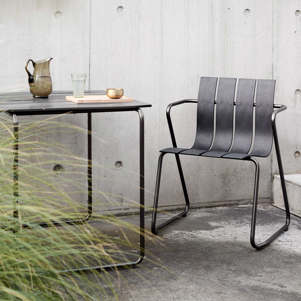 Black Ocean Table for Two by Joergen & Nanna Ditzel for Mater