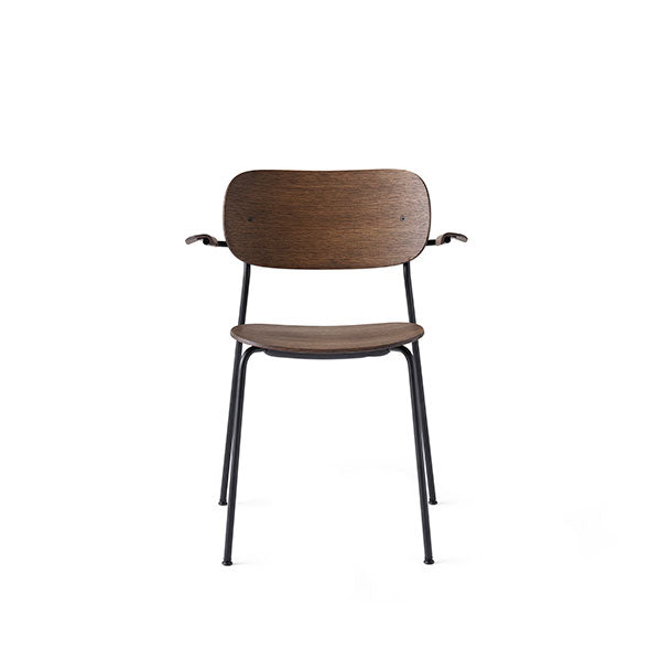 Co Chair Dining Chair with Armrest - Black / Dark Oak by the Office Group & Norm Architects for Menu