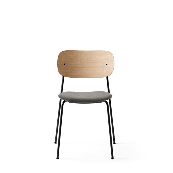 Co Chair Dining Chair Upholstered - Natural Oak / Grey by the Office Group & Norm Architects for Menu