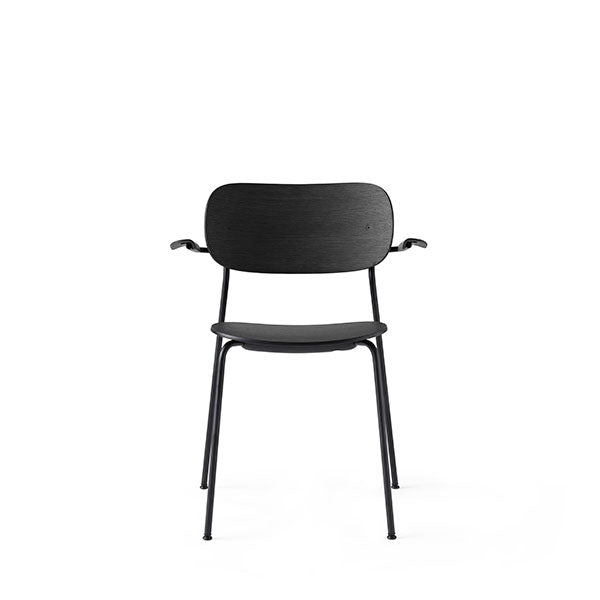 Co Chair Dining Chair with Armrest - Black / Black Oak by the Office Group & Norm Architects for Menu
