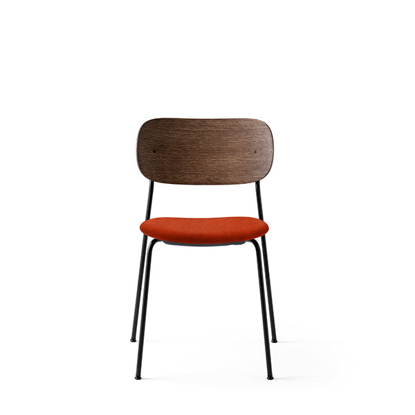 Co Chair Dining Chair Upholstered - Dark Oak / Red Velvet by the Office Group & Norm Architects for Menu
