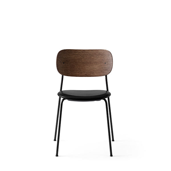 Co Chair Dining Chair Upholstered - Dark Oak / Black by the Office Group & Norm Architects for Menu