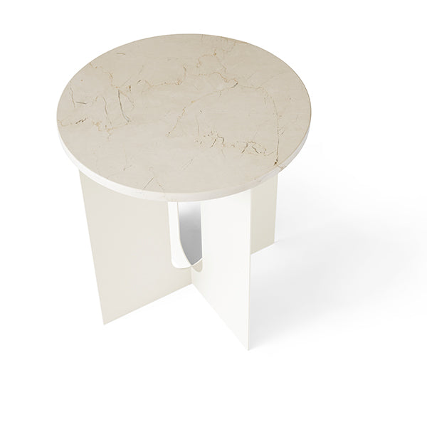 Androgyne Side Table Steel Base / Ivory by Danielle Siggerud for Menu