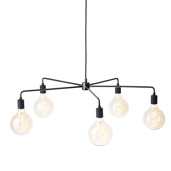 Tribeca Chambers Chandelier Small Black by Søren Rose for Menu