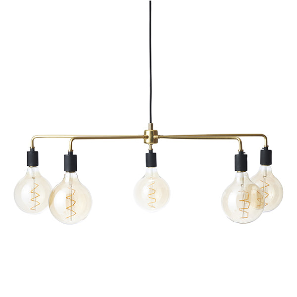 Tribeca Chambers Chandelier Small Brass by Søren Rose for Menu