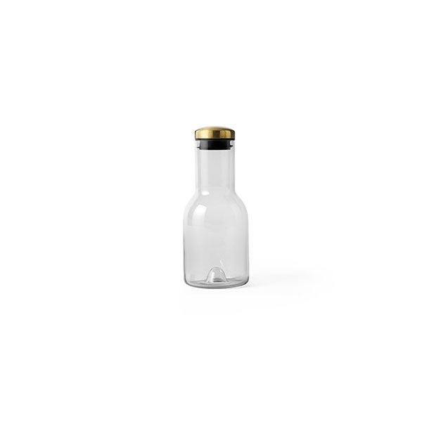 Water Bottle Carafe 17 oz Smoked Glass with Brass Lid by Norm Architects for Menu