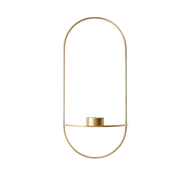 Brass POV Oval Wall Tealight Holder by Note for Menu