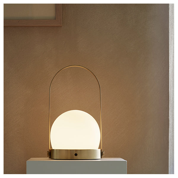 Carrie LED Lamp Brushed Brass by Norm Architects for Menu