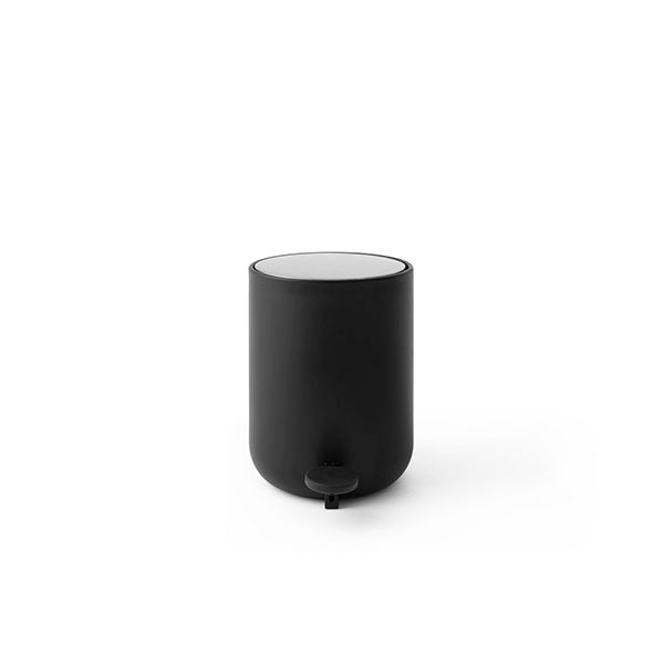 Norm Bath Pedal Trash Bin - Black by Menu