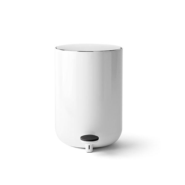 Norm Bath Pedal Trash Bin - White by Menu