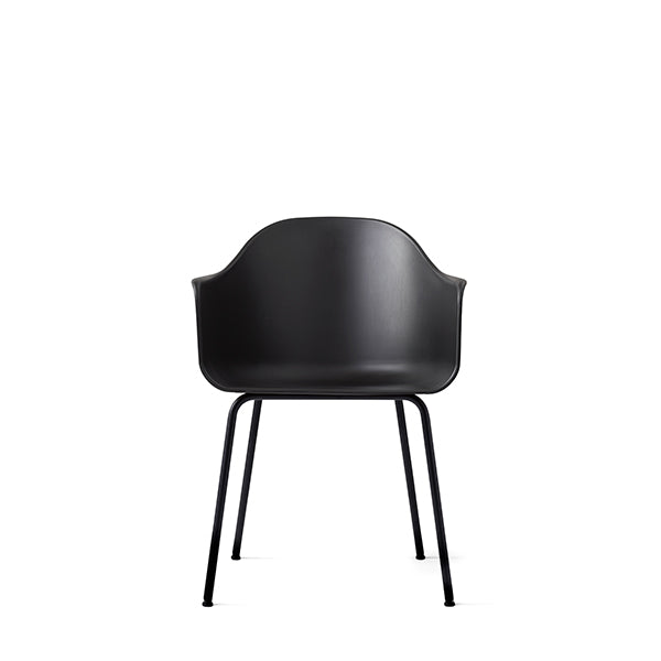 Harbour Chair, Hard Shell, Black with Black Steel Legs by Norm Architects for Menu