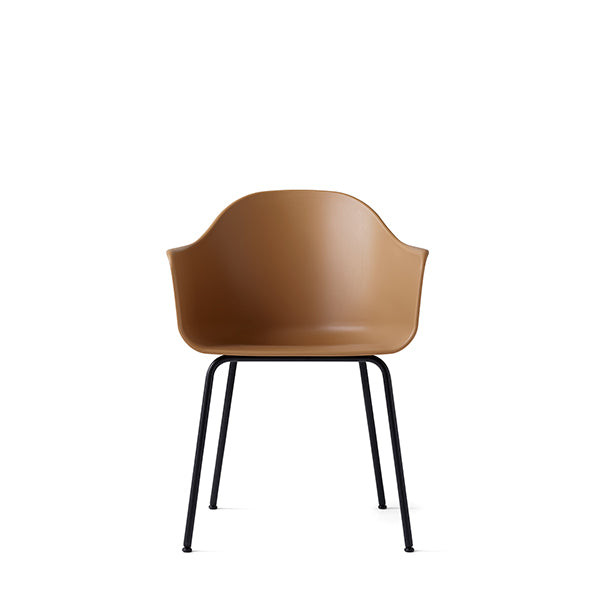 Harbour Chair, Hard Shell, Khaki with Black Steel Legs by Norm Architects for Menu