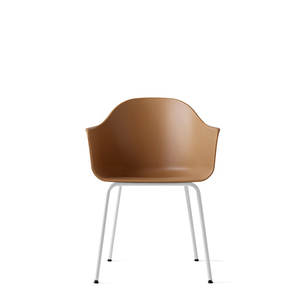 Harbour Chair, Hard Shell, Khaki with White Steel Legs by Norm Architects for Menu