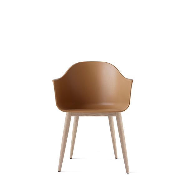 Harbour Chair, Hard Shell, Khaki with Natural Oak Legs by Norm Architects for Menu