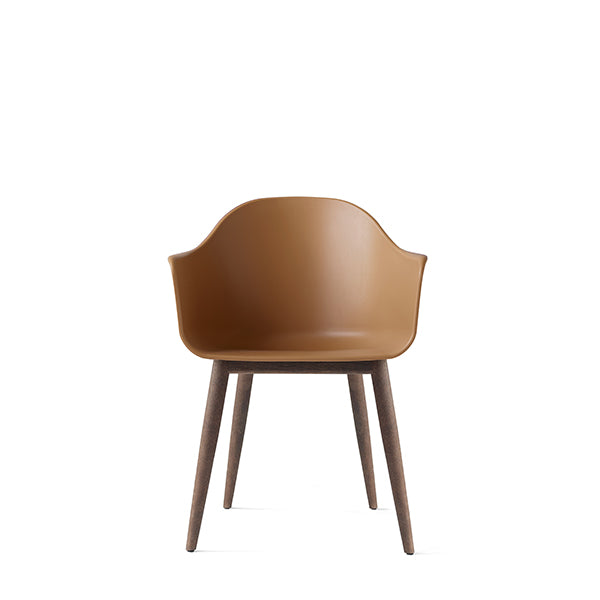Harbour Chair, Hard Shell, Khaki with Dark Oak Legs by Norm Architects for Menu