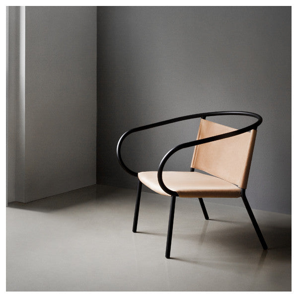 Afteroom Lounge Chair Black With Cognac Leather By Afteroom For Menu    Vertigo Home