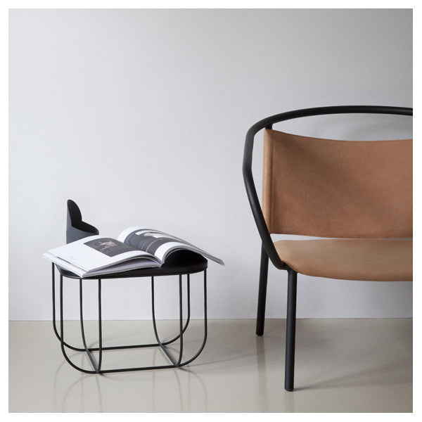 Afteroom Lounge Chair Black with Cognac Leather by Afteroom for Menu - Vertigo Home