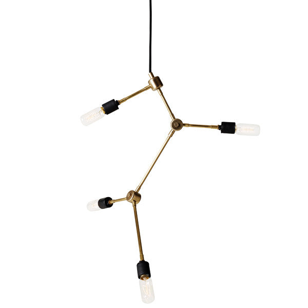 Tribeca Franklin Chandelier Brass by Søren Rose for Menu at www.vertigohome.us