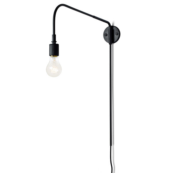 Tribeca Warren Wall Lamp Black by Søren Rose for Menu at www.vertigohome.us