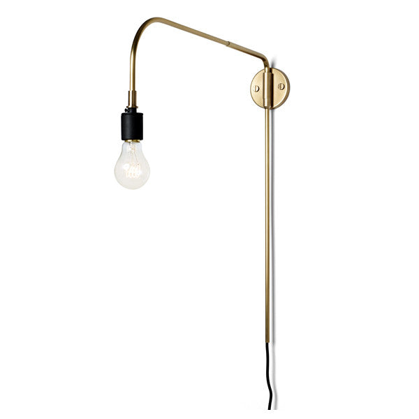 Tribeca Warren Wall Lamp Brass by Søren Rose for Menu at www.vertigohome.us