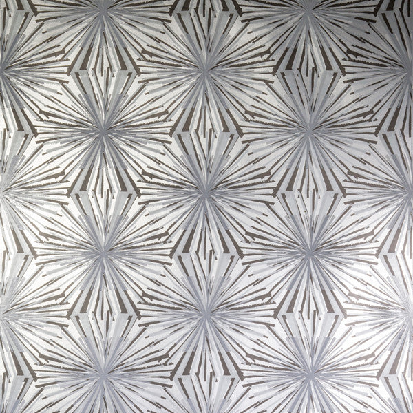 Meteor Flower - Argentum on Silver Mylar Wallpaper by Flavor Paper - Vertigo Home