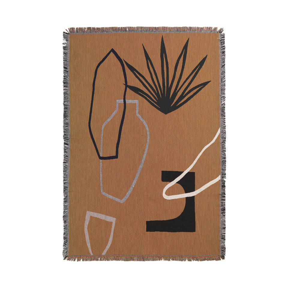 Mirage Blanket Mustard by Ferm Living