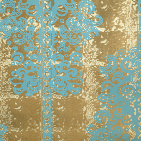 Monaco - Scrubs on Gold Pony Skin Foil Wallpaper by Flavor Paper - Vertigo Home