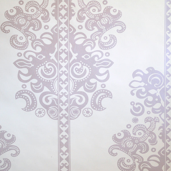 Monaco - Thistle on Ivory Clay Coated Paper Wallpaper by Flavor Paper - Vertigo Home