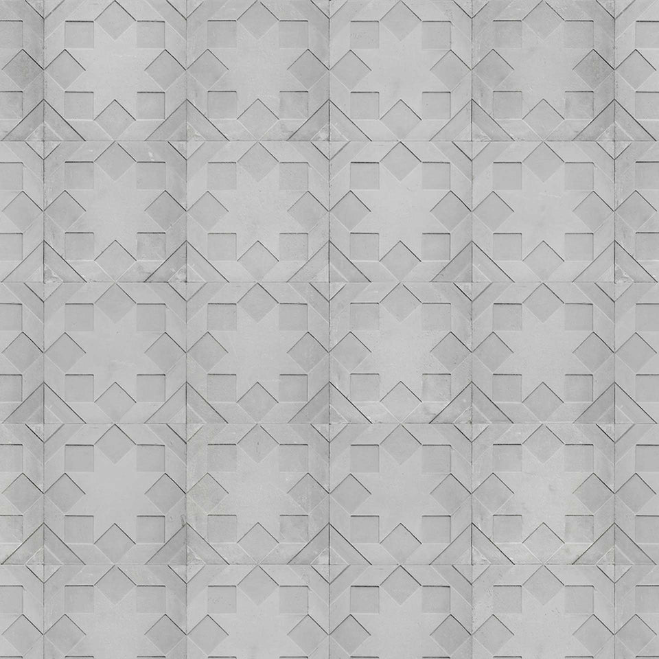 Star Moulded NDE-02 Monochrome Wallpaper by Nada Debs + NLXL