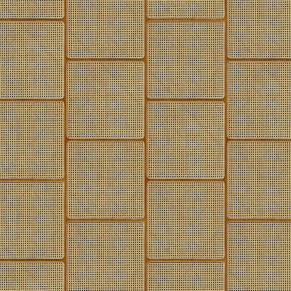 Square Cane Webbing Wallpaper by Studio Roderick Vos + NLXL