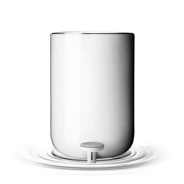 Norm Bath Pedal Trash Bin - White by Menu - Vertigo Home