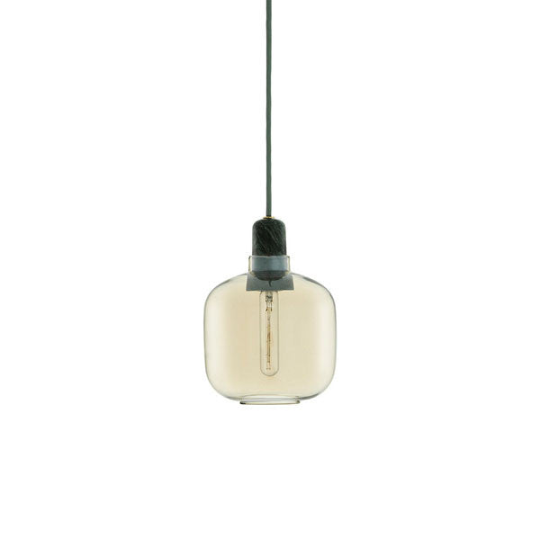 Amp Lamp - Green/Gold - Small by Simon Legald for Normann Copenhagen