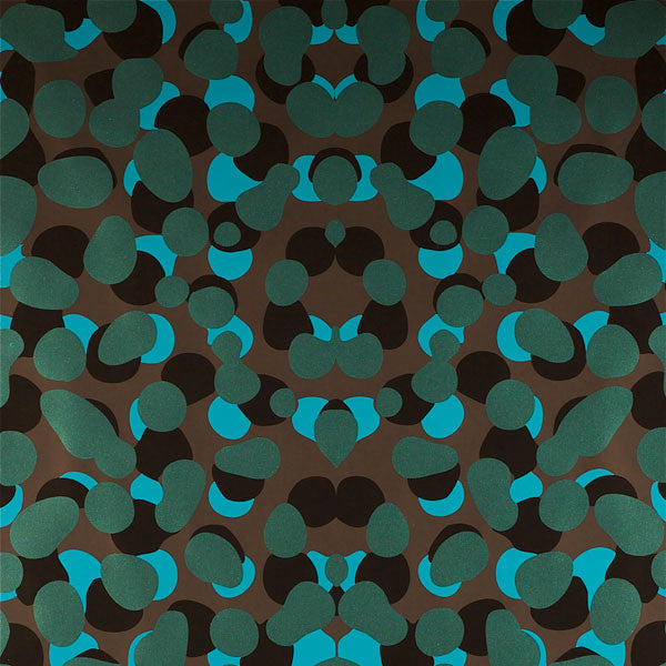 Obscuro - Deep Blue Sea on Ebony Clay Coated Paper Wallpaper by Flavor Paper - Vertigo Home