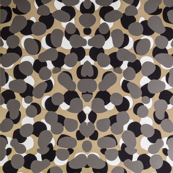 Obscuro - Ore on Matte Gold Mylar Wallpaper by Flavor Paper - Vertigo Home