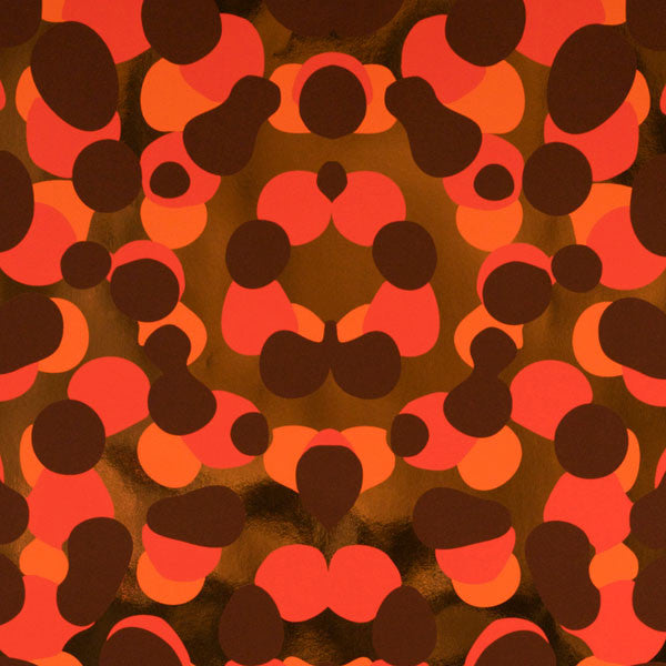 Obscuro - Red Hot on Copper Mylar Wallpaper by Flavor Paper - Vertigo Home