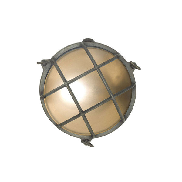 Brass Bulkhead Outdoor Wall Light Weathered Brass by Original BTC / Davey Lighting - Vertigo Home