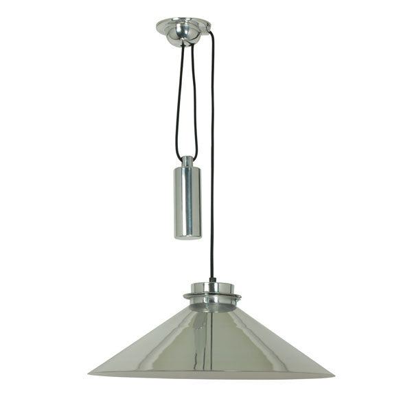 Codie Rise & Fall Pendant Light Polished Aluminum by Original BTC - Vertigo Home