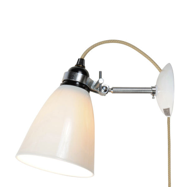 Hector Medium Dome Wall Light with Wall Plug by Original BTC