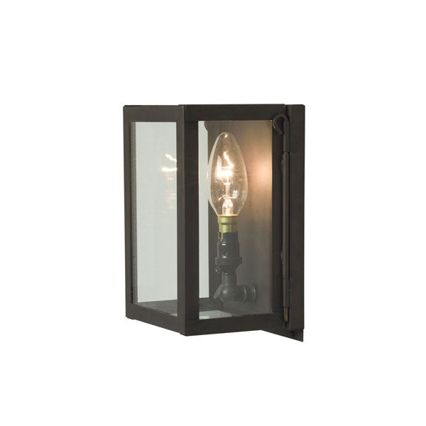 Miniature Box Wall Light Weathered Brass by Original BTC / Davey Lighting - Vertigo Home