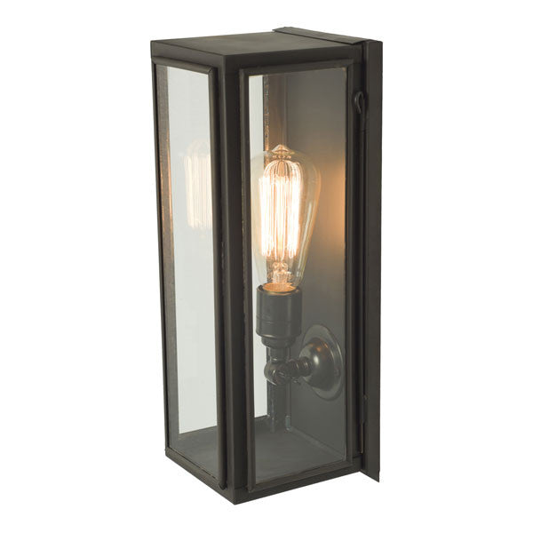 Narrow Box Wall Light Weathered Brass by Original BTC / Davey Lighting - Vertigo Home