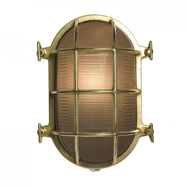 Oval Brass Bulkhead 7034 Wall Light by Original BTC / Davey Lighting