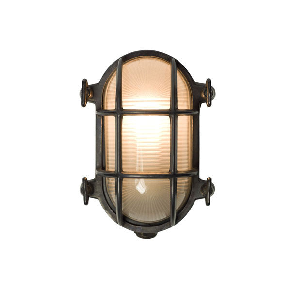 Oval Brass Bulkhead 7036 Wall Light by Original BTC / Davey Lighting - Vertigo Home