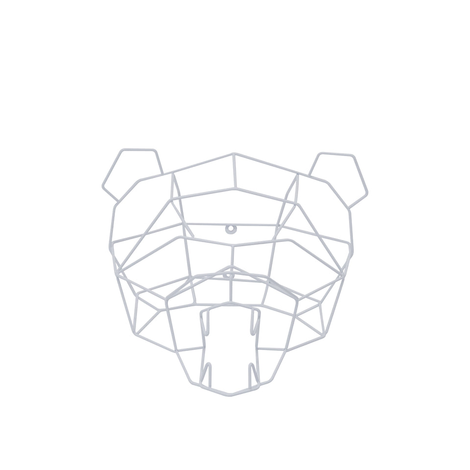 Polar Bear Geometric Animal Trophy Head by Bend Goods
