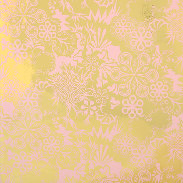 Party Girl - Blush on Bright Gold Mylar Wallpaper by Flavor Paper at www.vertigohome.us
