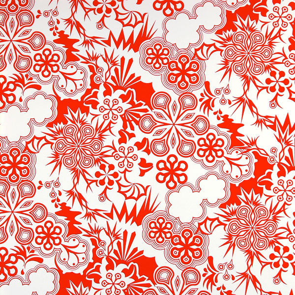 Party Girl - Fire Red on White Mylar Wallpaper by Flavor Paper at www.vertigohome.us