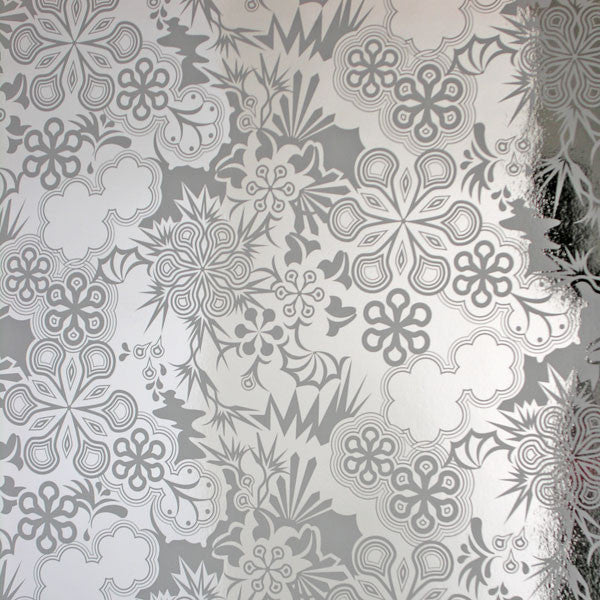 Party Girl - Silver on Chrome Mylar Wallpaper by Flavor Paper - Vertigo Home