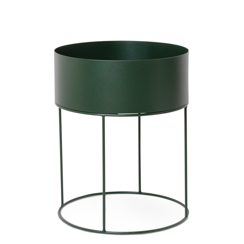 Plant Box Round - Dark Green by Ferm Living