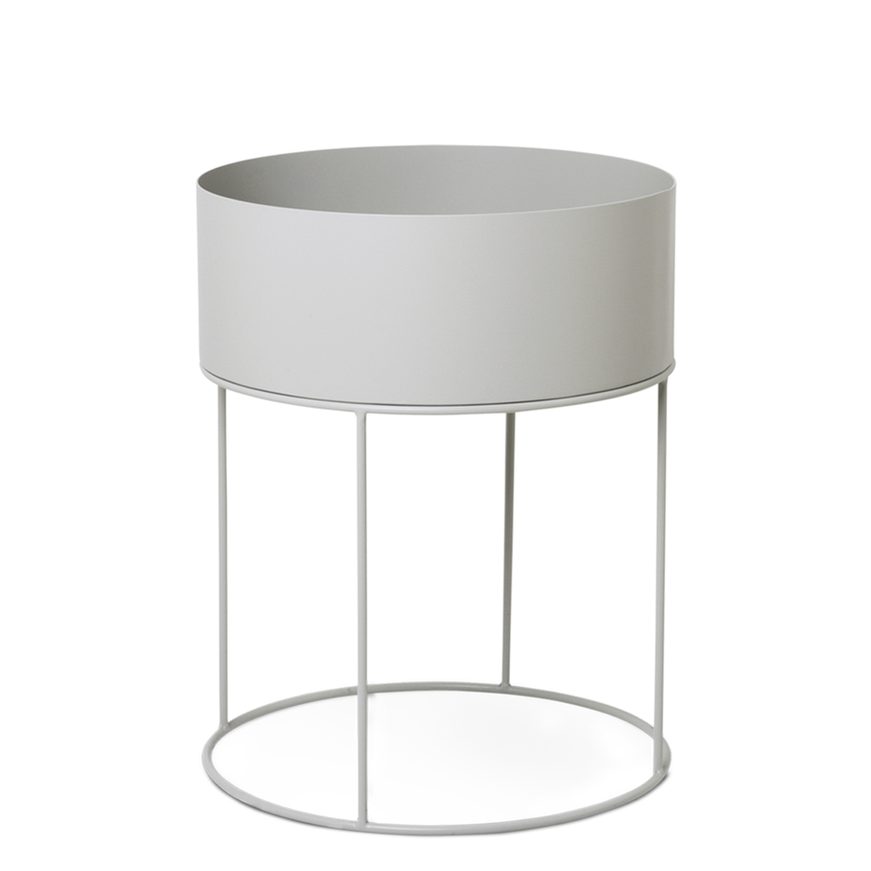 Plant Box Round - Light Grey by Ferm Living