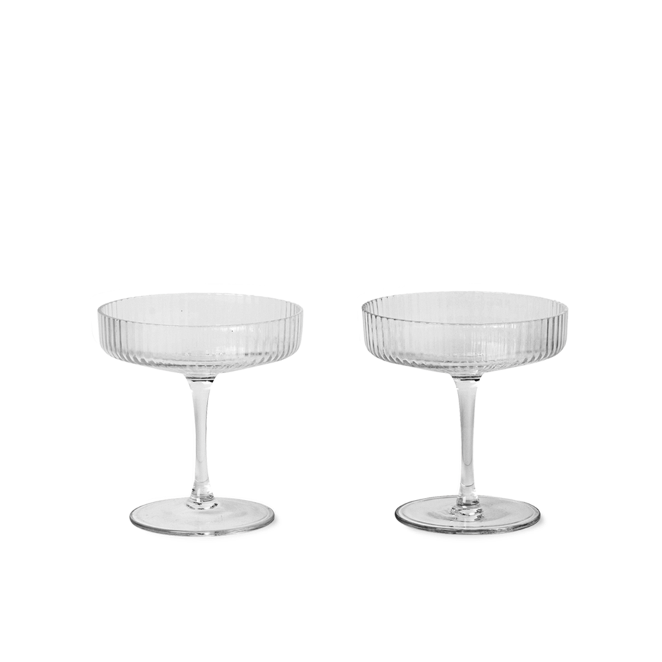 Ripple Champagne Saucer Set by Ferm Living